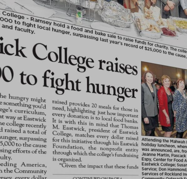 Eastwick College raises $30,000 to fight hunger