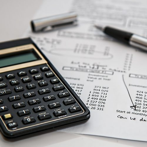 calculator with business accounting manual calculations
