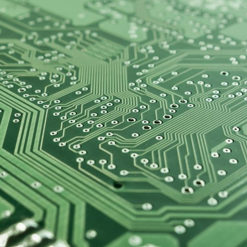 computer chip close up