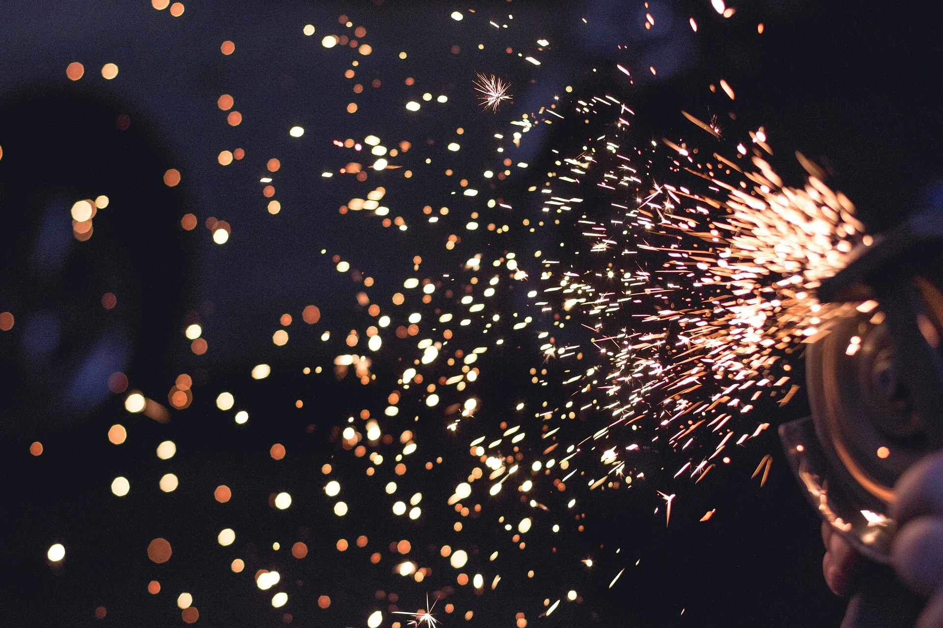 sparks from welder manufacturing metal